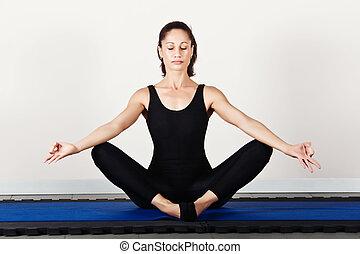 Gymnastics pilates - Butterfly relax position, soft focus....
