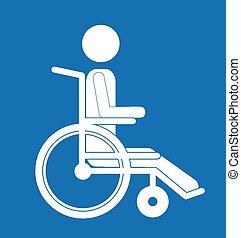 Disabled design over blue background, vector illustration
