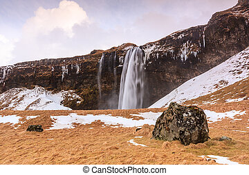 Seljalandsfoss Falls in South Iceland