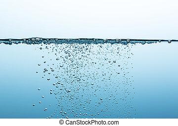 mineral water - oxygen bubbels in water. Taken in Studio...
