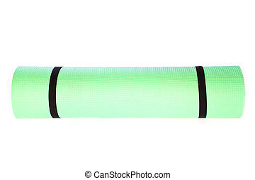Yoga Mat roll  on white background