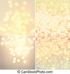 Set of Abstract natural blur defocussed backgrounds with...
