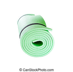 Yoga Mat roll isolated on white