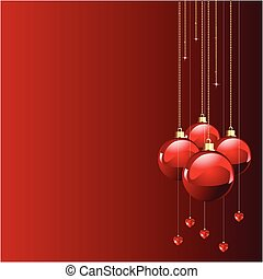 Red colors Christmas and New year\'s place card