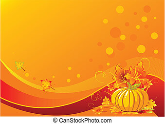 Holiday pumpkin background