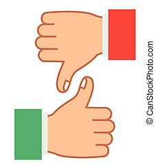 Hands gesture design over white background, vector...