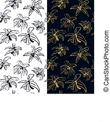 Seamless pattern with coconut trees