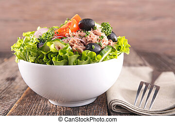 fresh salad in bowl