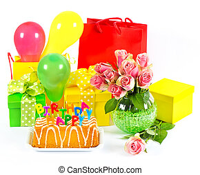 Happy Birthday! colorful party decoration.