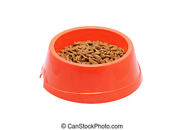 Bowl of dog food.