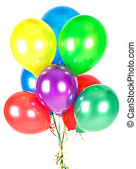 顏色, 黨, 裝飾, 气球