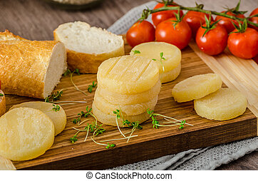 Czech smelly cheese - Olomoucke tvaruzky, product photo