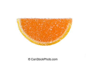 Slice Of Orange Marmalade On A White Background - Slice of...