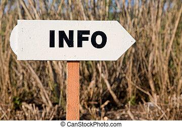 informazioni, segno