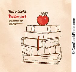 Apple on books.