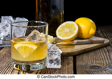 Cocktail (Whiskey Sour) - Fresh made Cocktail (Whiskey Sour)...