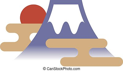 Fuji Mountain - Vector illustration