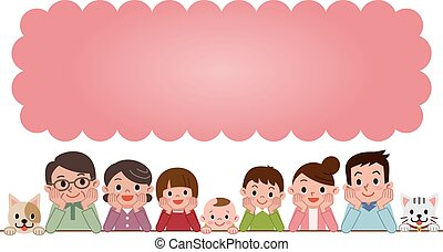 Good friend family to think - Vector illustration.