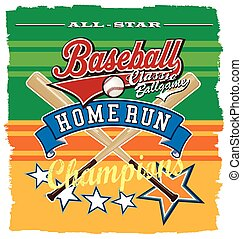 homerun baseball champ - baseball sport vector illustration...