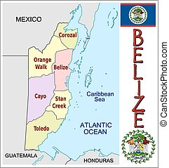 Belize administrative divisions