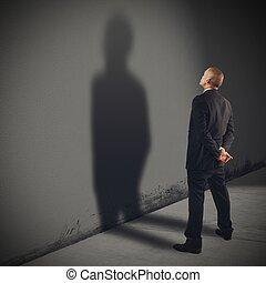 Shadow businessman
