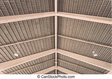 Roof structure in public market in Phuket, Thailand
