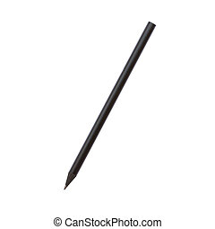 Black pencil isolated on white background