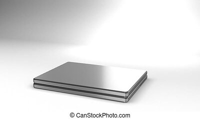 Laptop On White Background 3D render Animation For Business...