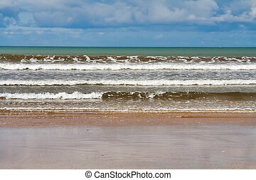 Inch Strand - Landscape of the beach at Inch Strand in...