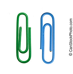 Paper clip - Macro paper clip isolated on white background