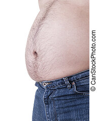 fat - Fat man with a big belly Diet