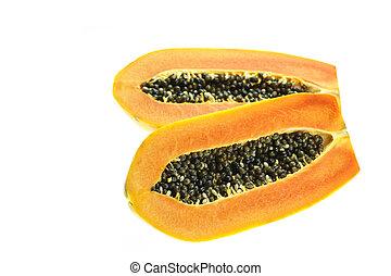 Thai papaya isolated on white background