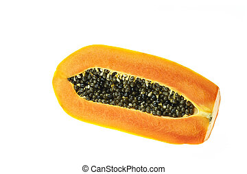 Thai papaya isolated on white background