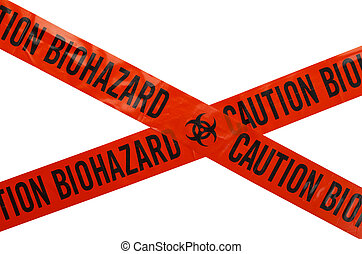 Biohazard Tape - Orange and Black Caution Biohazard Tape....