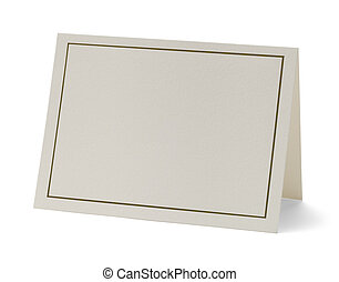 Blank Card - Greeting Card with Copy Space Isolated on White...