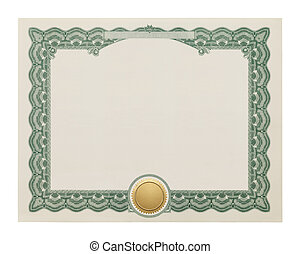 Blank Certificate - Award Degree With Copy Space and Gold...