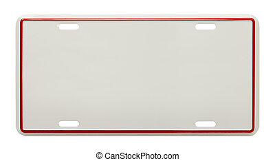 Blank License Plate - Metal License Plate With Copy Space...