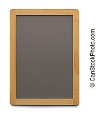 Blank Menu Board - Grey Chalk Board With Copy Space Isolated...