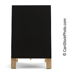 Blank Menu Sign - Black Chalk Board Standup Restaurant Menu...