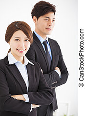 young business man and woman in the office