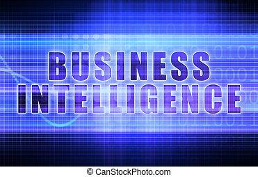 Business Intelligence on a Tech Business Chart Art