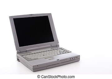 Old laptop - Laptop dating from the 90\'s, with a port door...