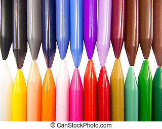 full color crayon horizontal head to head irregular...