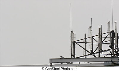 Some of the satellites on the rooftop these are like...