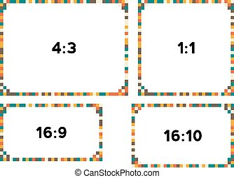 4 pixel borders in vintage colors for different resolutions...