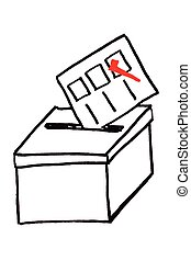 Simple vote box