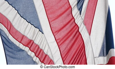 Details of the red blue and white flag of England It is...