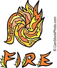 Abstract fire symbol - Creative design of Abstract fire...