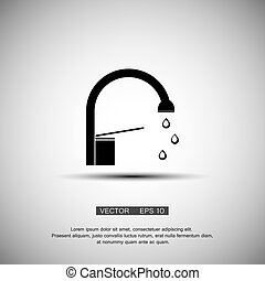 water tap - A simple icon Water tap vector eps 10