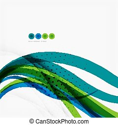 Green blue wave lines